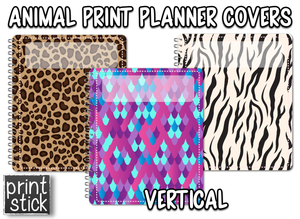 Covers for Planners - Animal Print - Print Stick