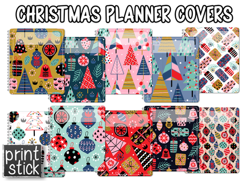 Covers for Planners - Christmas - Print Stick