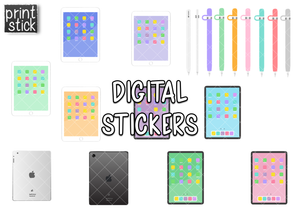 SS Digital Planning Digital Planner Stickers - Print Stick