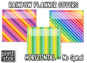 Covers for Planners - Rainbow - Print Stick