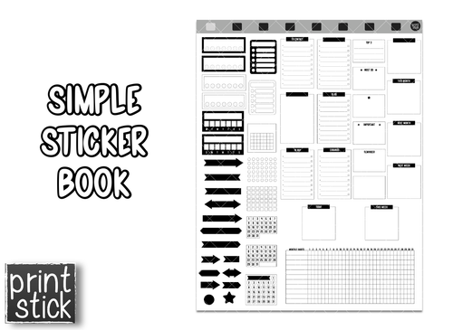 Simple Sticker Book - Print Stick