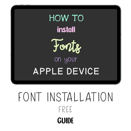 𝘍𝘙𝘌𝘌 𝗚𝘂𝗶𝗱𝗲 - How to Install Fonts - Print Stick