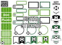 Load image into Gallery viewer, SS Soccer Digital Planner Stickers - Print Stick