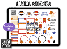 Load image into Gallery viewer, SS Basketball Digital Planner Stickers - Print Stick