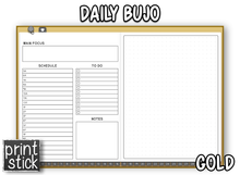Load image into Gallery viewer, Daily BuJo Planner - Print Stick