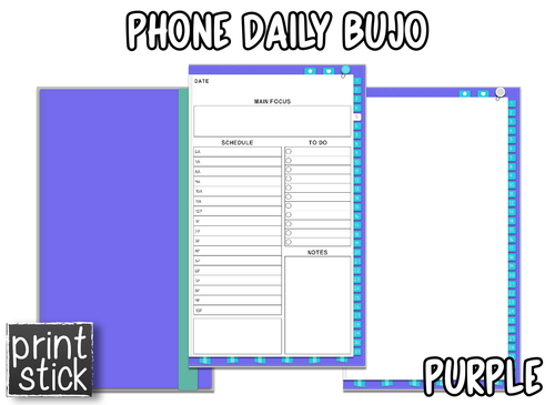 Phone Daily Planner - Print Stick