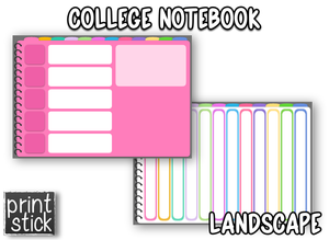 Subject Notebook - Print Stick