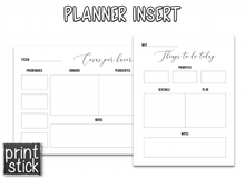 Load image into Gallery viewer, Planner Inserts - 'Black' Pack - Print Stick