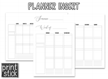 Load image into Gallery viewer, Planner Inserts - 'Black' Style - Print Stick