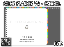 Load image into Gallery viewer, En Español: Agenda Color Planner V2 - Print Stick