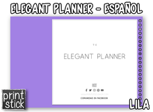 Load image into Gallery viewer, En Español: Agenda Digital Elegant Planner - Print Stick