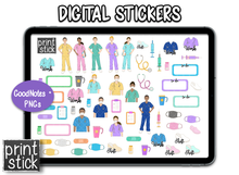 Load image into Gallery viewer, SS Nurse Digital Planner Stickers - Print Stick
