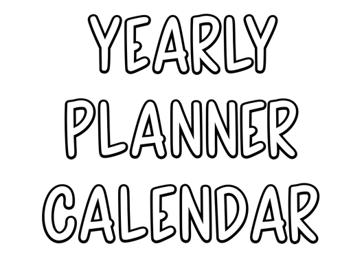 Yearly Calendar Insert - For Undated Planners - Print Stick