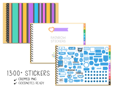 Load image into Gallery viewer, Digital Planner Sticker Book - Rainbow (Sample) - Print Stick