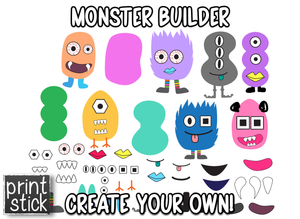 Monster Builder - Print Stick