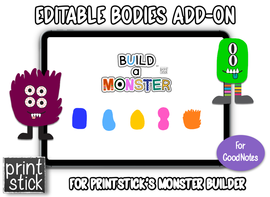 Monster Builder Add-On: Editable Bodies - Print Stick