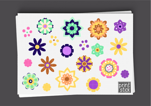 SS- Flowers of Spring Digital Planner Stickers - Print Stick