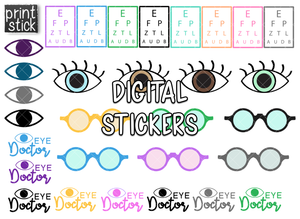 SS- Eye Doctor Digital Planner Stickers - Print Stick