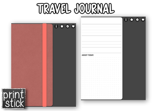 Travel Journal - Digital Notebook - Print Stick
