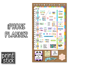 iPhone Planner - Digital Planner for Smartphones - Print Stick