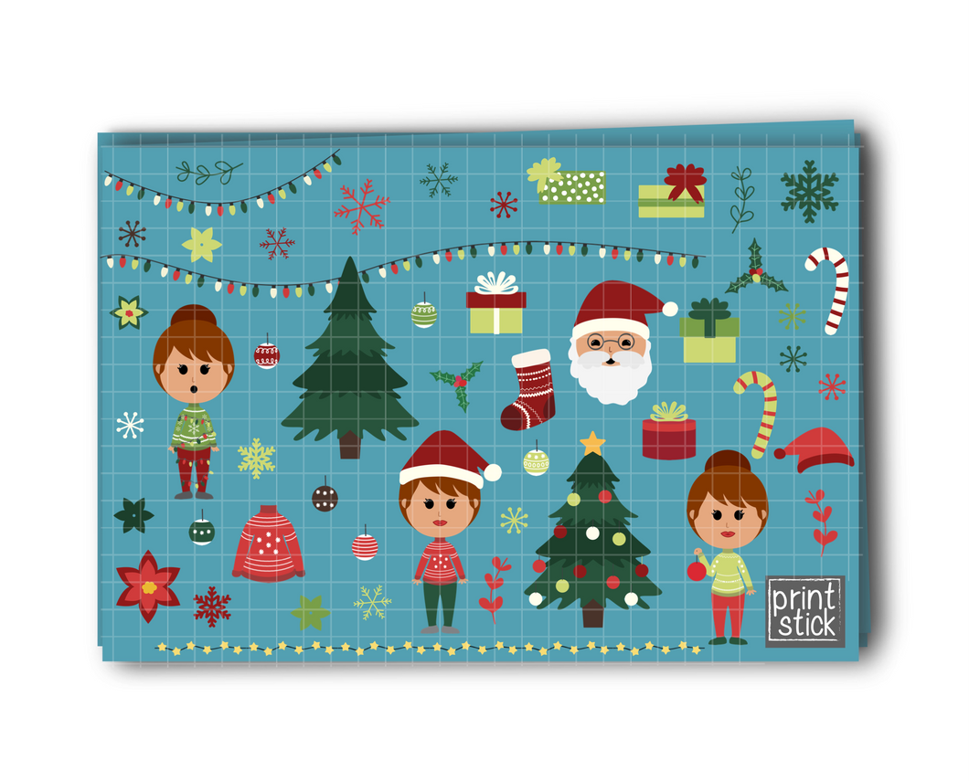 SS- Christmas Digital Planner Stickers - RC - Print Stick