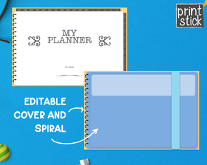 Editable Digital Planner - for Keynote - Print Stick