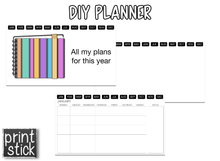 Load image into Gallery viewer, DIY Editable Digital Planner - for Keynote - Print Stick