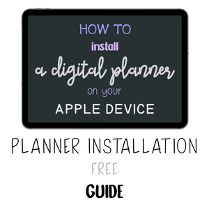 𝘍𝘙𝘌𝘌 𝗚𝘂𝗶𝗱𝗲 - How to Install a Digital Planner - Print Stick