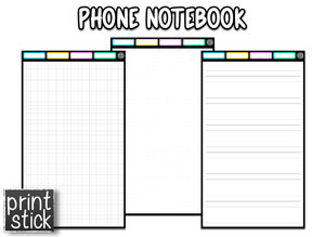 Phone Notebook - Digital Notebook - Print Stick