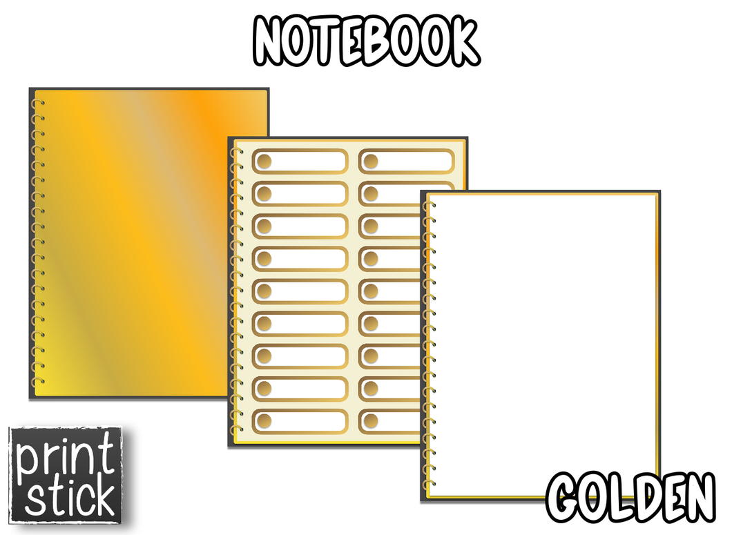 Digital Notebook - Golden - Print Stick