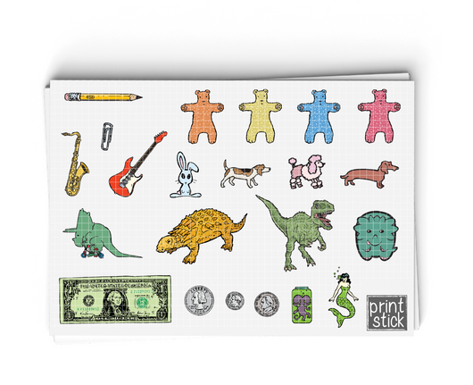 SS- Random KS Digital Planner Stickers - Print Stick
