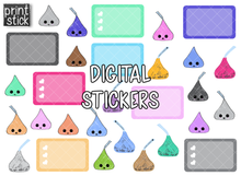 Load image into Gallery viewer, SS Kisses Digital Planner Stickers - Print Stick