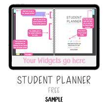 Load image into Gallery viewer, 𝘍𝘙𝘌𝘌 𝗗𝗶𝗴𝗶𝘁𝗮𝗹 𝗣𝗹𝗮𝗻𝗻𝗲𝗿 - Student Planner - Print Stick