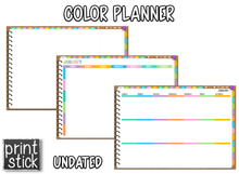 Load image into Gallery viewer, Color Planner - Digital Planner - Print Stick