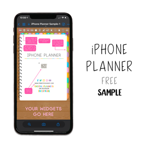 𝘍𝘙𝘌𝘌 𝗦𝗮𝗺𝗽𝗹𝗲 - iPhone Planner - Print Stick