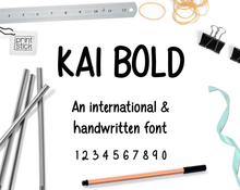 Load image into Gallery viewer, Font: Kai Bold - Print Stick