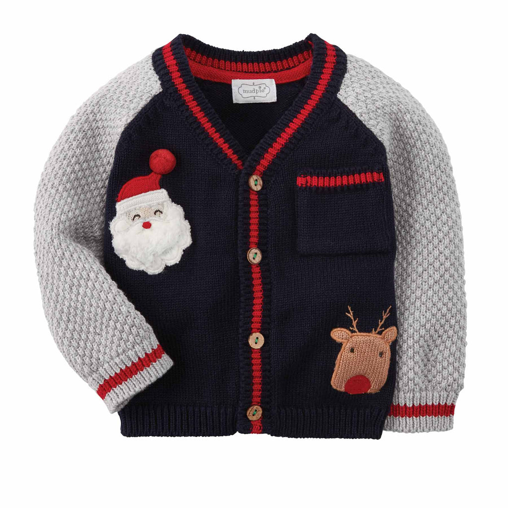 Boy Cardigan - Christmas