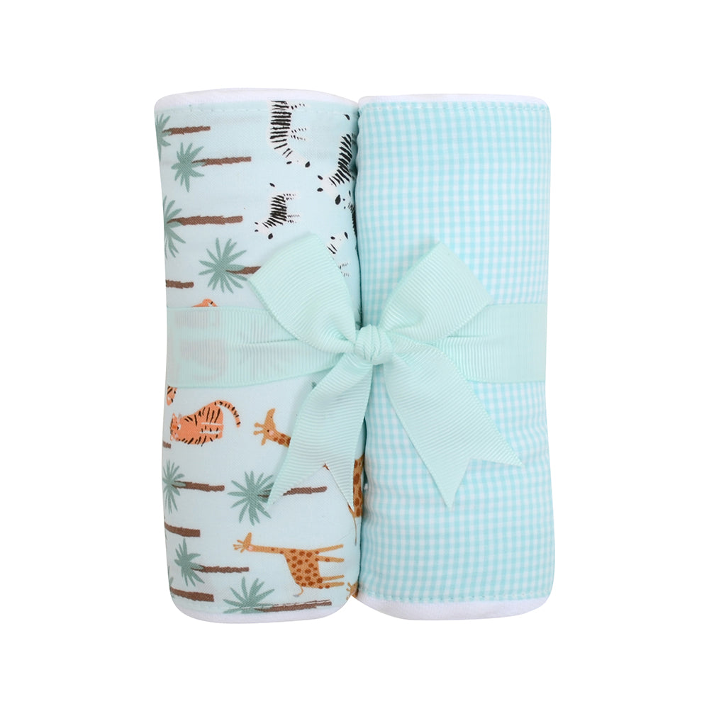 Two Burp Cloth Set - Safari