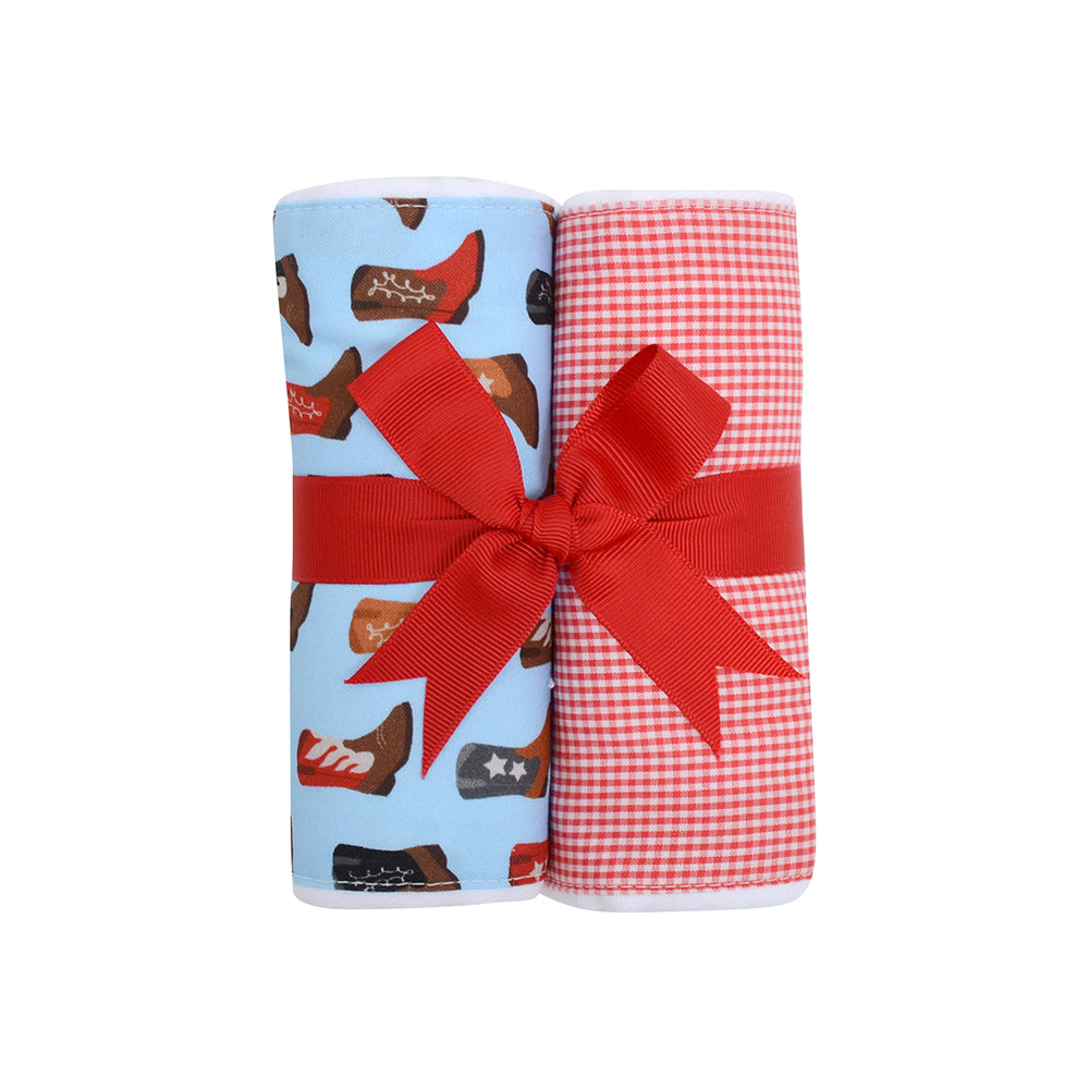Two Burp Cloth Set - Cowboy