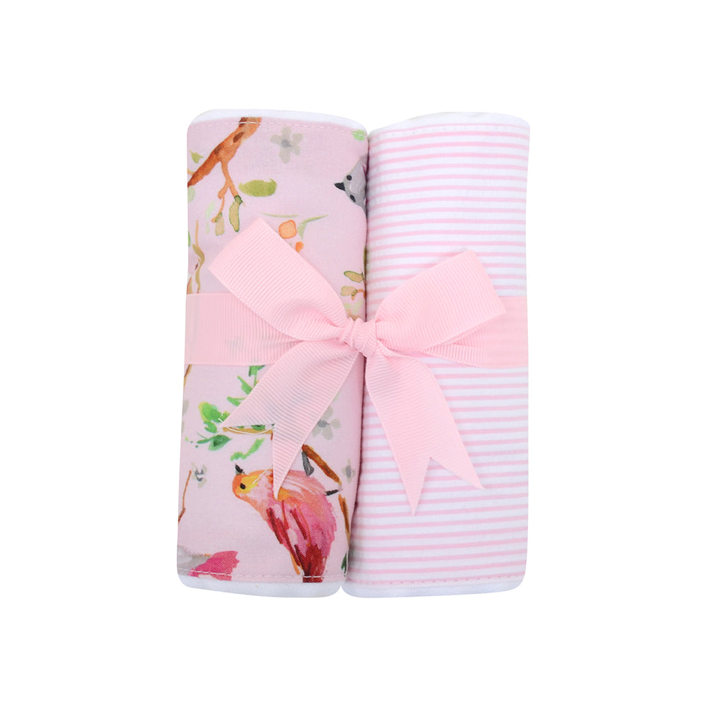 Two Burp Cloth Set - Bird