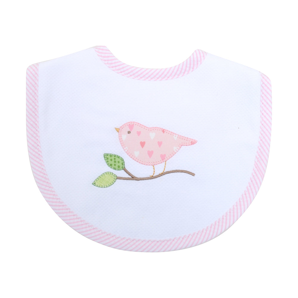 Appliqued Feeding Bib - Bird