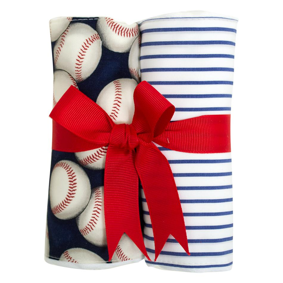 Burp Cloth Set - Baseball