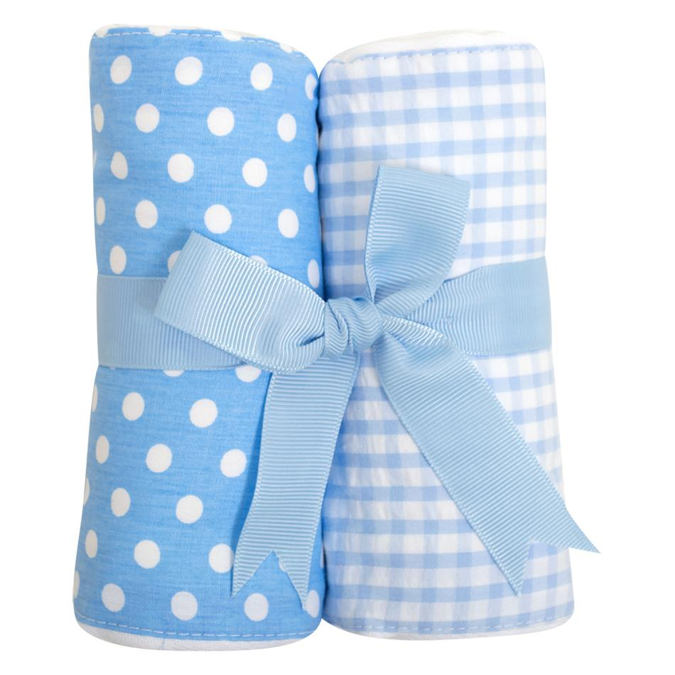 Burp Cloth Set - Blue
