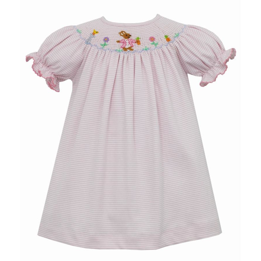 Bishop Dress - Peter Rabbit Pink/White Stripe