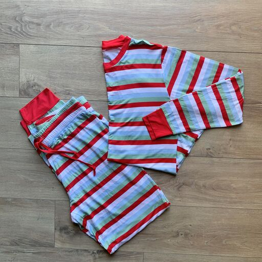 Women's Long Sleeve PJ Set - Holly Stripe