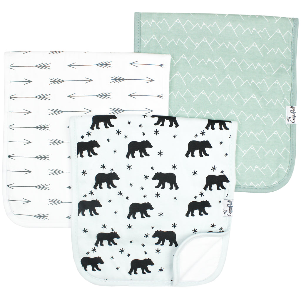 Burp Cloth Set - Archer