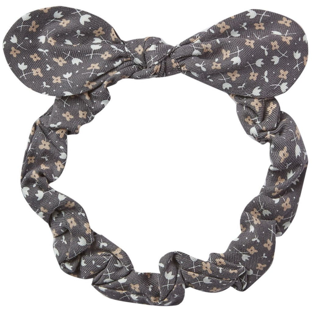Baby Bow Headband - Washed Indigo
