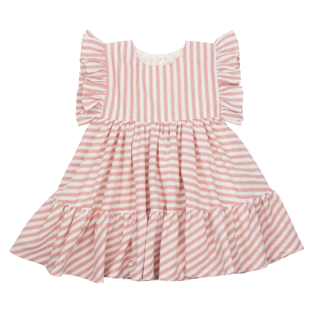 Baby Kit Dress - Pink Stripe