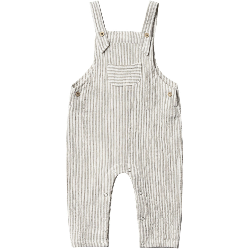 Baby Overall - Olive Stripe