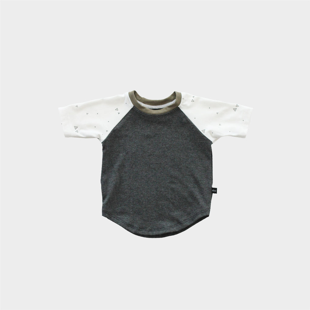 Baseball Tee - Graphite Heather/Triangle